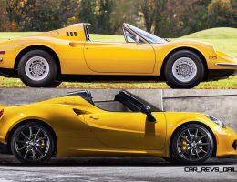Style Icons – 2015 Alfa Romeo 4C Spider vs 1974 Ferrari Dino 246 GTS