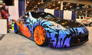 Hand-Airbrushed Nissan 370Z LowRider 1