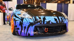 Hand-Airbrushed Nissan 370Z LowRider 3