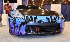 Hand-Airbrushed Nissan 370Z LowRider 4