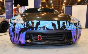 Hand-Airbrushed Nissan 370Z LowRider 5