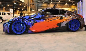 Hand-Airbrushed Nissan 370Z LowRider 8