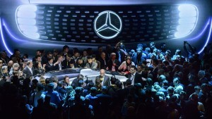 World premiere of the Mercedes-Benz F 015 Luxury in Motion at the CES, Las Vegas 2015