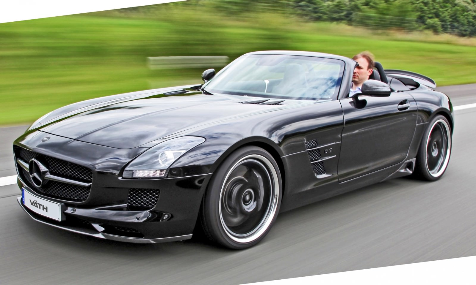 vath blacks out sls amg roadster 9 car revs. Black Bedroom Furniture Sets. Home Design Ideas