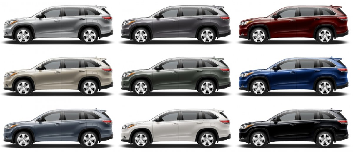 2018 Toyota Highlander Colors Upcoming Toyota