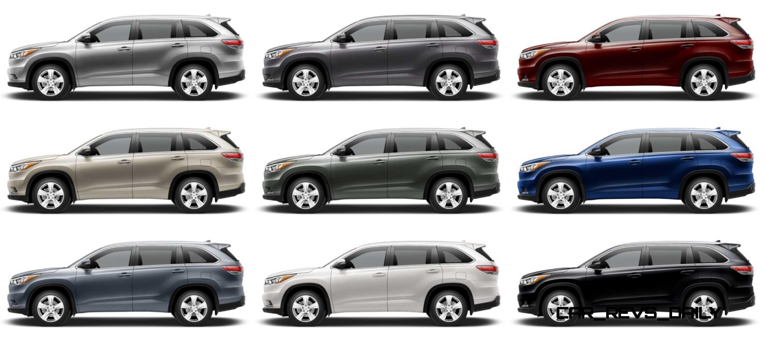Toyota Highlander Colors >> Highlander Colors