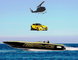 2016 Mercedes-AMG GT S and Cigarette Racing Concepts Outrun 'Las Tres Letras' for Miami Boat Show