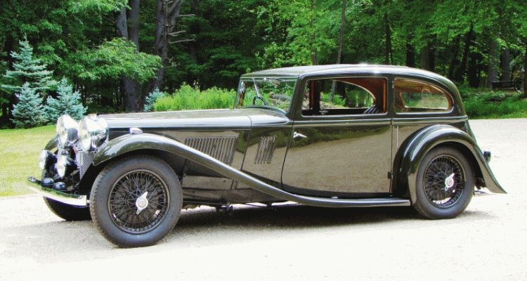 1934 Alvis Speed 20 SB Two-Door Saloon by Vanden Plas