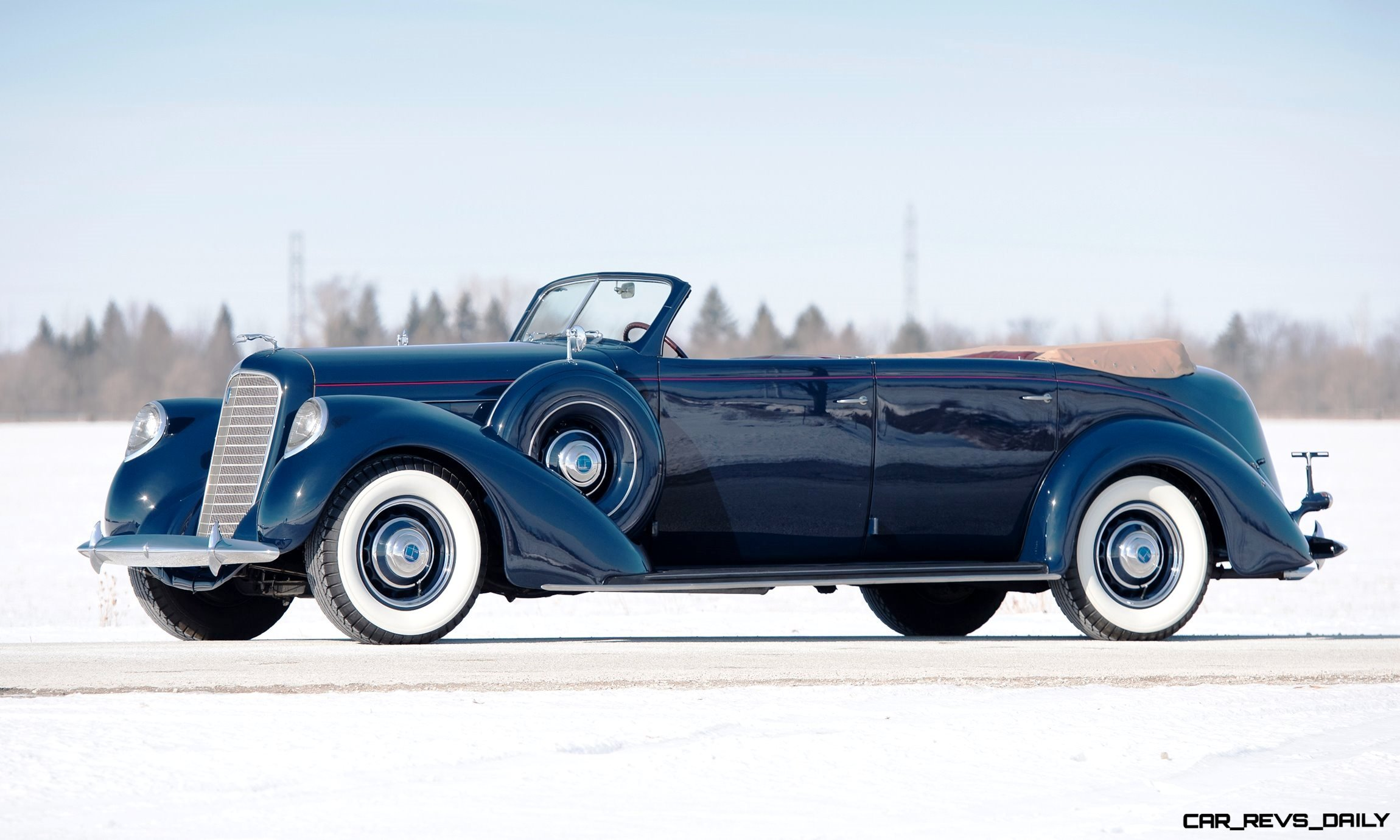 1937 Lincoln Model K Convertible Sedan by LeBaron 29