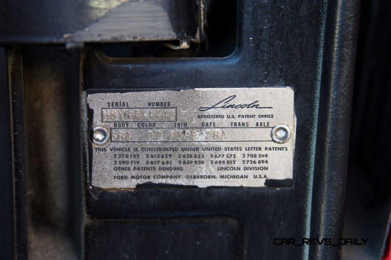 1958 Lincoln Continental Mark III Convertible  22