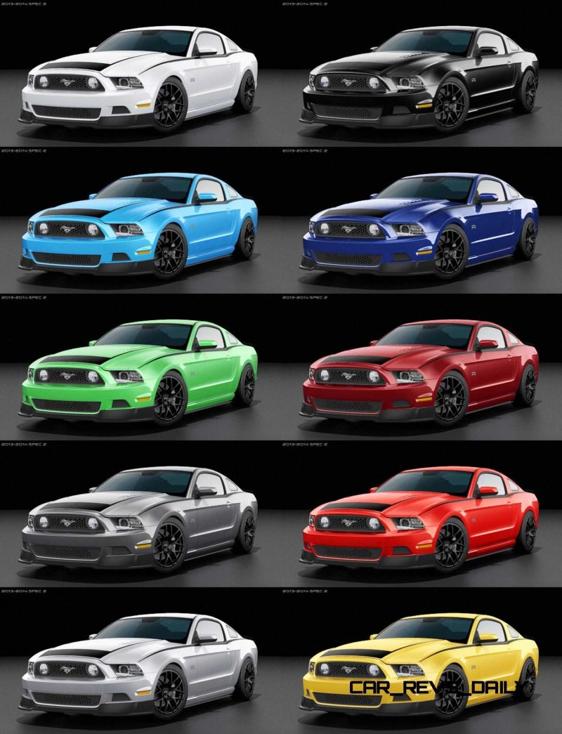 2014 Ford Mustang RTR Spec 2 Colors and Turntable 10-tile