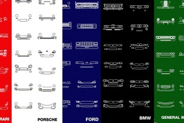 Cool Gift Ideas – NOMO Design Auto Icon Screen Prints Show History and Evolution of Famous Car Makes