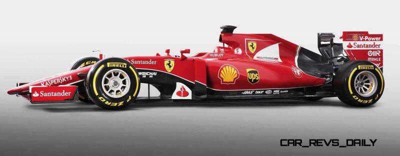 2015 F1 Cars Comparo - Infiniti RB11 vs McLaren-Honda MP4-30 vs AMG W06 vs Ferrari SF15T 16