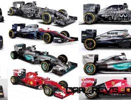 2015 F1 Cars Comparo – Infiniti RB11 vs McLaren-Honda MP4-30 vs AMG W06 vs Ferrari SF15T