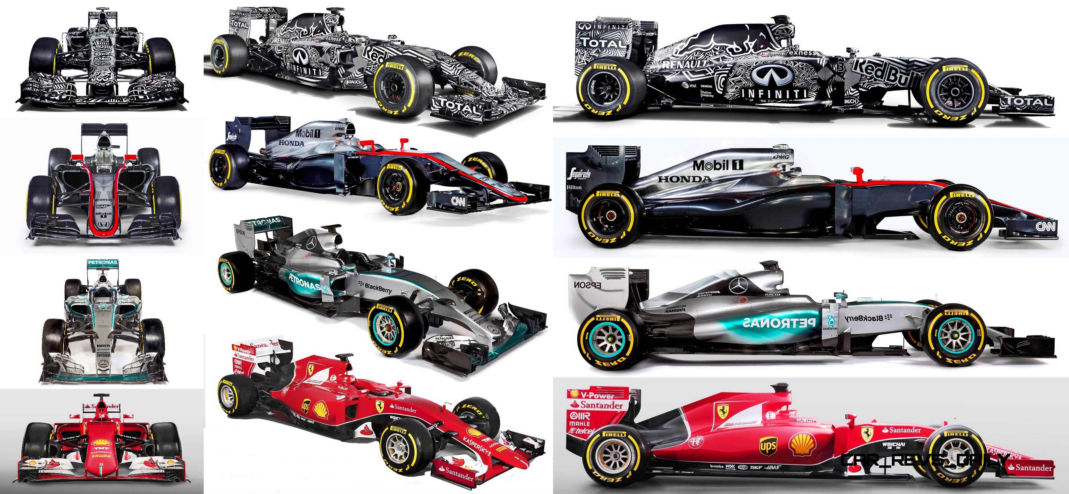 2015 F1 Cars Comparo u2013 Infiniti RB11 vs McLaren-Honda MP4-30 vs AMG W06 vs Ferrari SF15T & McLaren-Honda Topic Hub