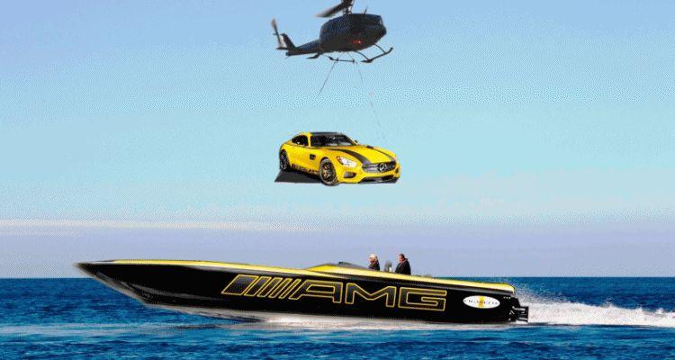 2015 Mercedes-AMG GT S Cigarette Boat