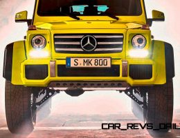 2015 Mercedes-Benz G500 4×4² Debuts Hardcore Off-Road Kit, New 4.0L V8TT and LWB Options