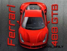 660HP, 212MPH 2016 Ferrari 488 GTB Goes Turbo With Wild New Intake Styles!