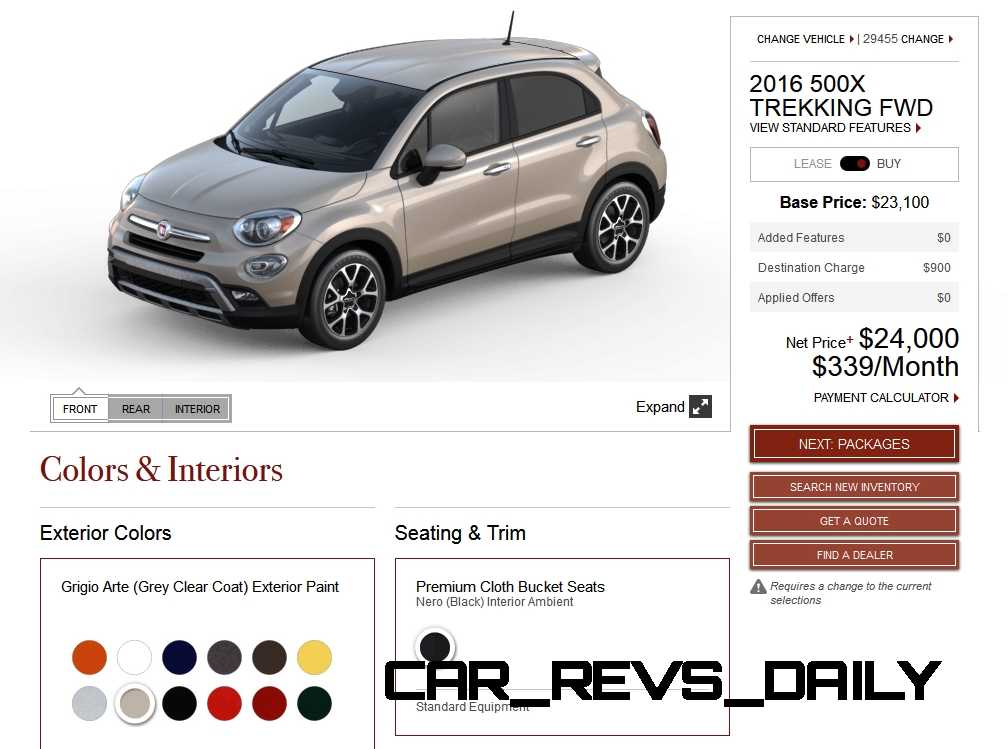 2016 Fiat 500X Pricing, Colors and Real-Life Photos 14