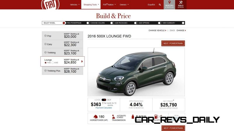 2016 Fiat 500X Pricing, Colors and Real-Life Photos 4
