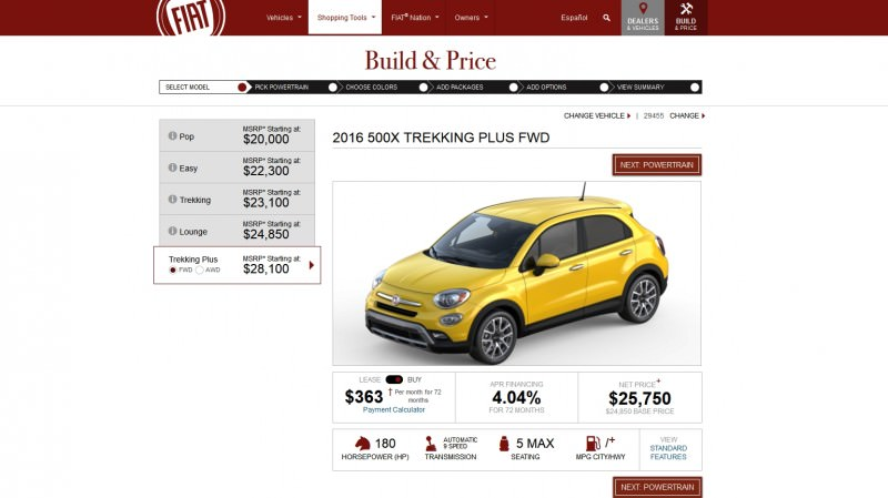 2016 Fiat 500X Pricing, Colors and Real-Life Photos 5