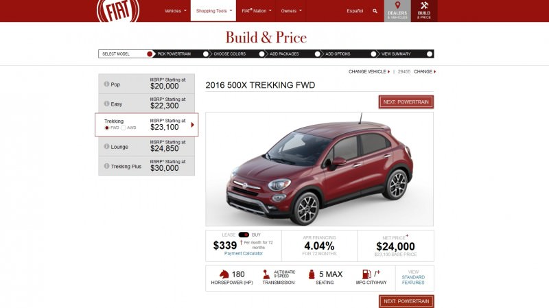 2016 Fiat 500X Pricing, Colors and Real-Life Photos 6