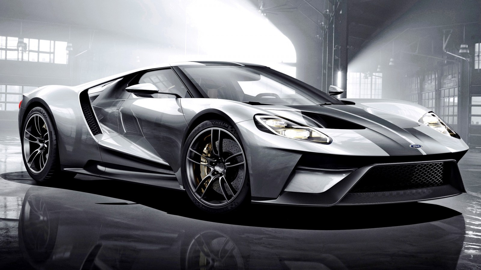 2017 ford gt in liquid silver. Black Bedroom Furniture Sets. Home Design Ideas