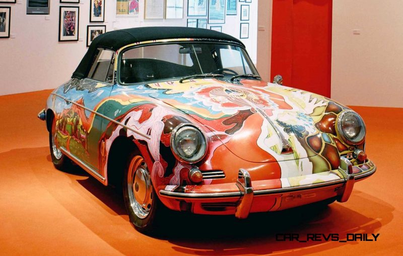 Houston Auto Show Curio - Porsche 356 Art Car Is Janis Joplin Homage 1