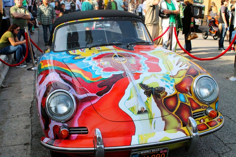 Houston Auto Show Curio - Porsche 356 Art Car Is Janis Joplin Homage 10