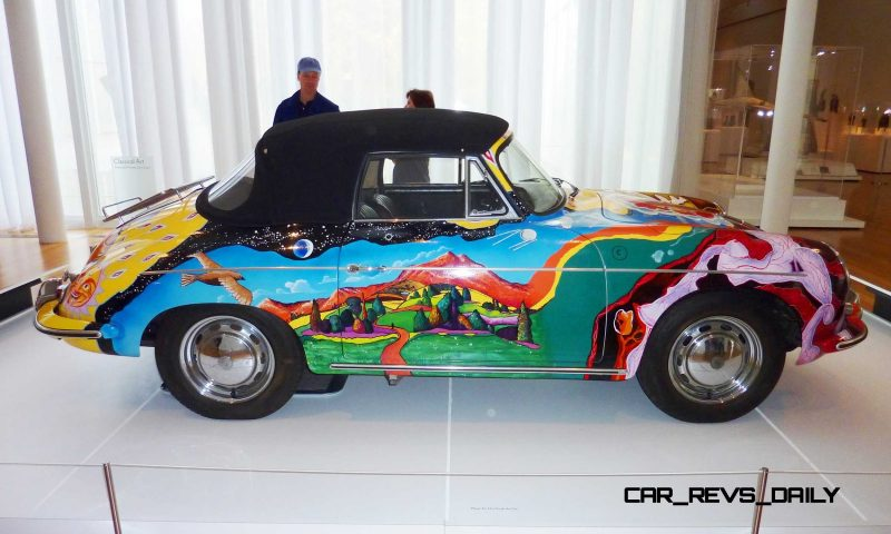 Houston Auto Show Curio - Porsche 356 Art Car Is Janis Joplin Homage 11