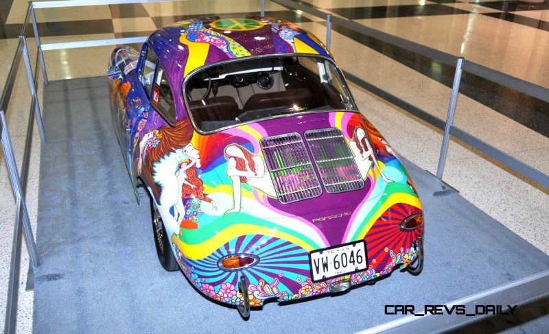 Houston Auto Show Curio - Porsche 356 Art Car Is Janis Joplin Homage 3