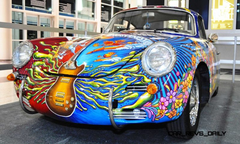Houston Auto Show Curio - Porsche 356 Art Car Is Janis Joplin Homage 7