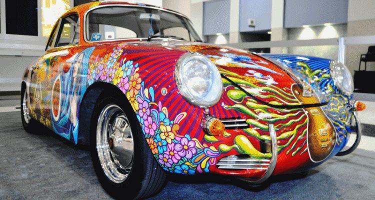 Houston Auto Show Curio - Porsche 356 Art Car Is Janis Joplin Homage