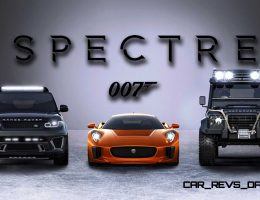 Jaguar Land Rover Reveals its 007 SPECTRE Cars: C-X75, Range Rover Sport SVR and Defender Big Foot