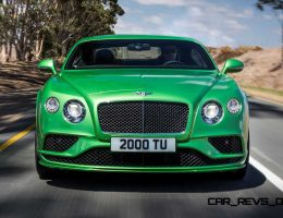2016 Bentley Continental GT and Flying Spur Boast More W12 Power + Revised Designs