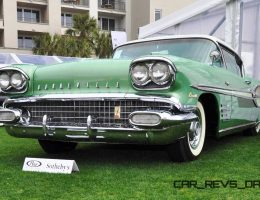 RM Amelia Island 2015 – 1958 Pontiac Bonneville Sport Coupe Is Rocket-Brick Icon
