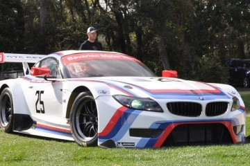 2015 BMW Z4 GTLM CSL Homage Livery Meets 1975 BMW 3.0 CSL Racecar At Amelia Island Concours