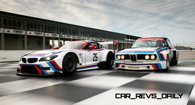 2015 BMW Z4 GTLM CSL Homage Livery Meets 1975 BMW 3.0 CSL Racecar At Amelia Island Concours 18