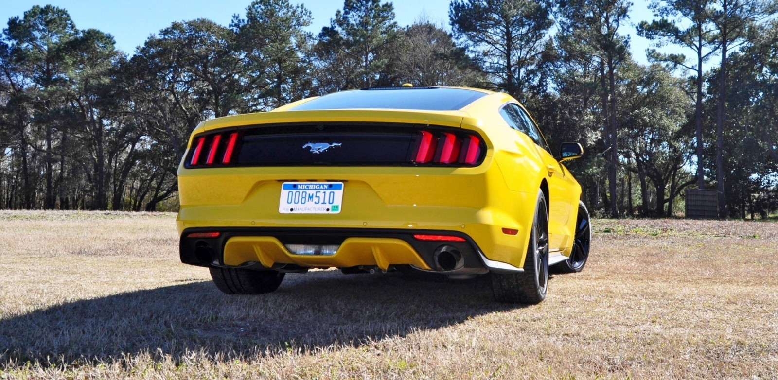 2015 Ford Mustang EcoBoost in Triple Yellow 104