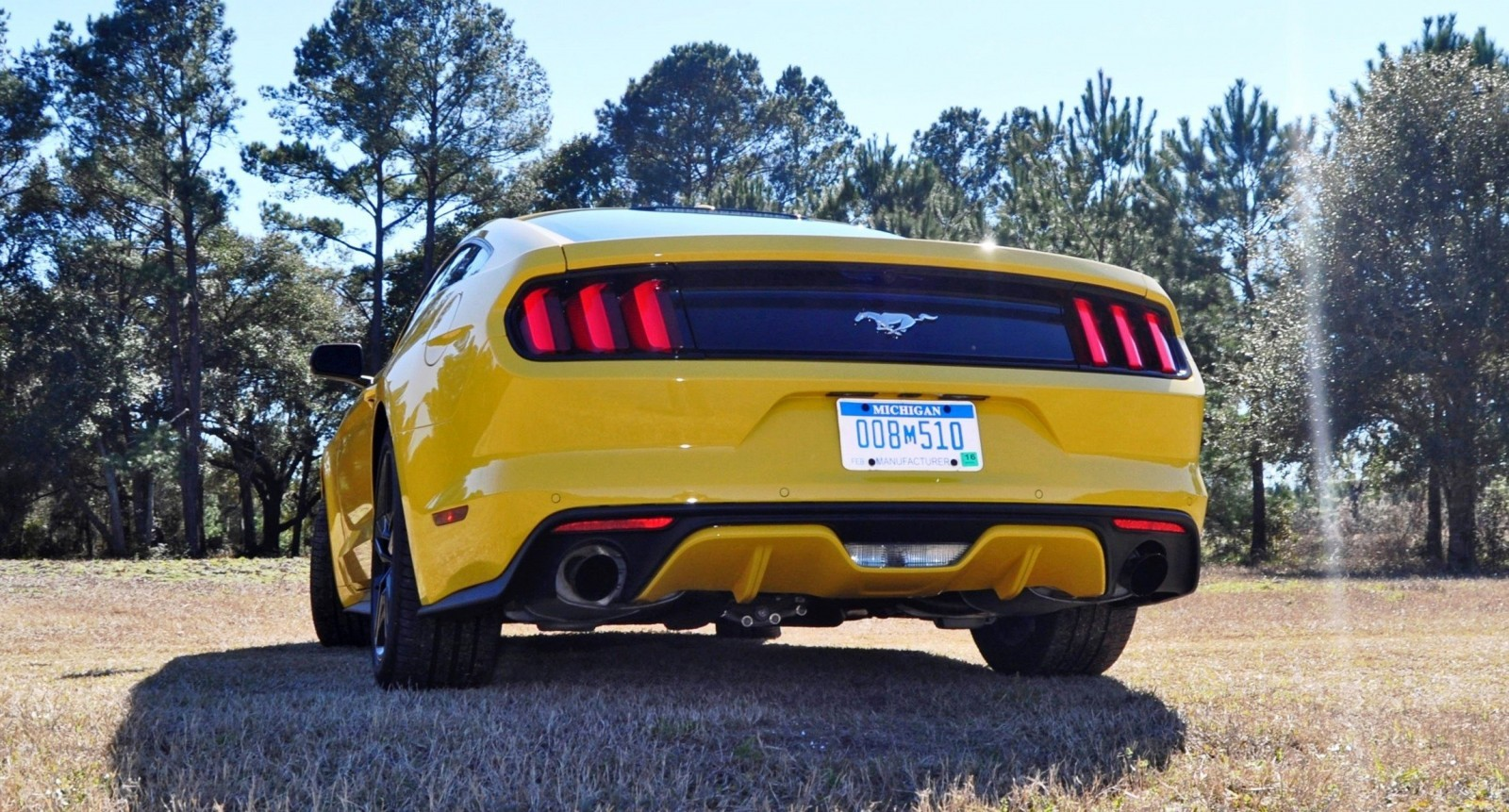 2015 Ford Mustang EcoBoost in Triple Yellow 108