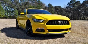 2015 Ford Mustang EcoBoost in Triple Yellow 11