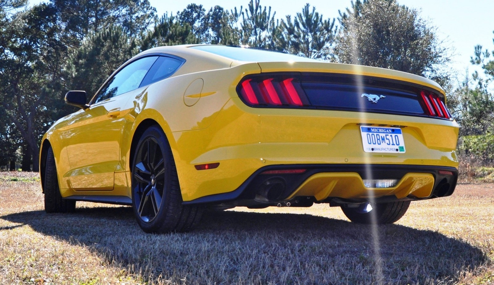2015 Ford Mustang EcoBoost in Triple Yellow 110