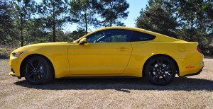 2015 Ford Mustang EcoBoost in Triple Yellow 115