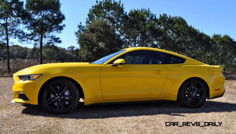 2015 Ford Mustang EcoBoost in Triple Yellow 117