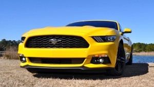 2015 Ford Mustang EcoBoost in Triple Yellow 123