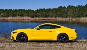 2015 Ford Mustang EcoBoost in Triple Yellow 135
