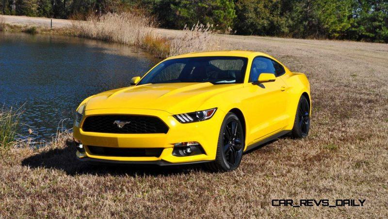 2015 Ford Mustang EcoBoost in Triple Yellow 141