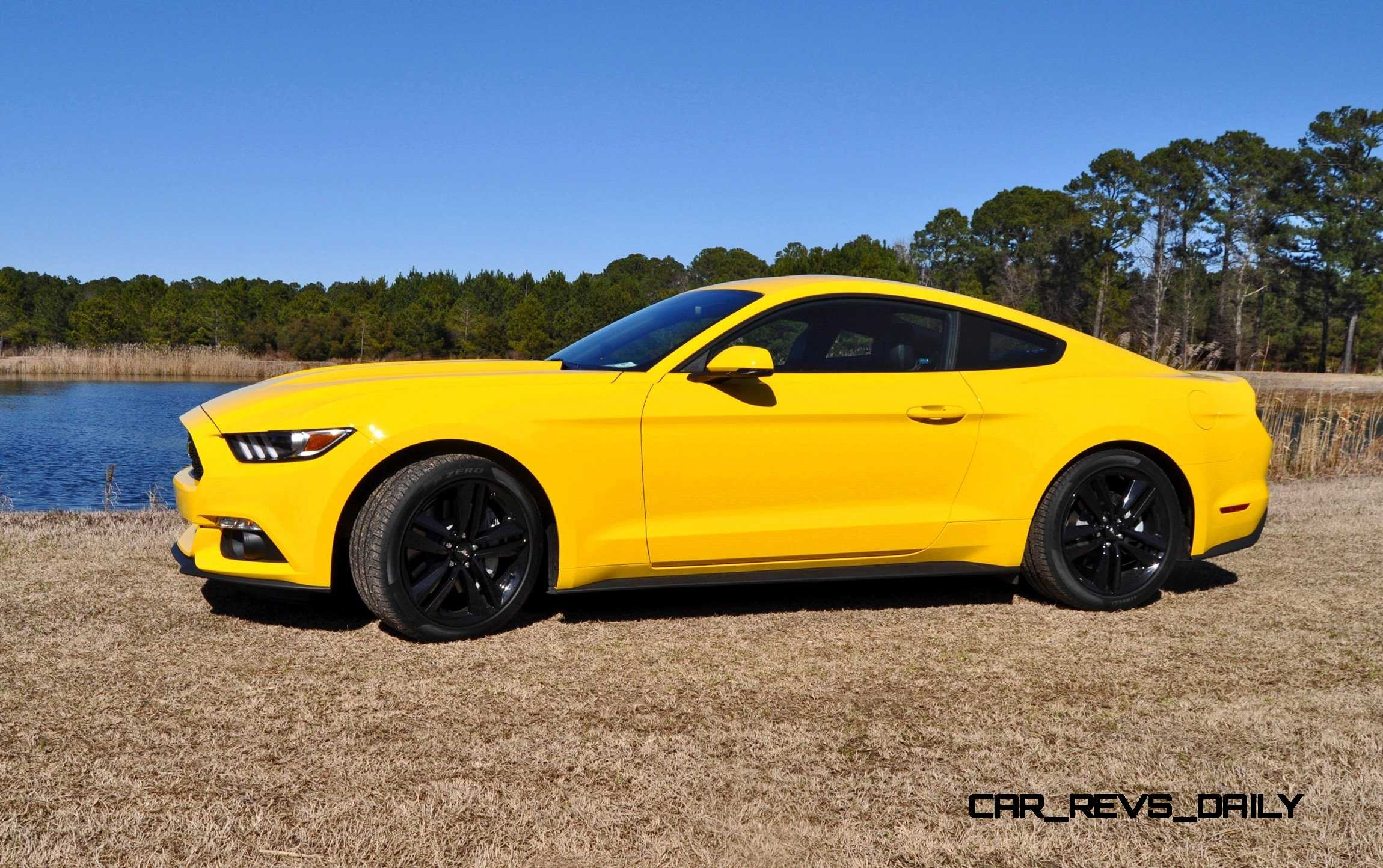 2015 ford mustang ecoboost in triple yellow 16. Black Bedroom Furniture Sets. Home Design Ideas