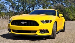 2015 Ford Mustang EcoBoost in Triple Yellow 3