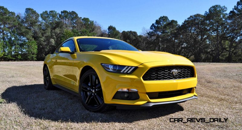 2015 Ford Mustang EcoBoost in Triple Yellow 41